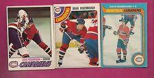 1977 1978 1979 OPC CANADIENS DOUG RISEBROUGH  CARD (INV#5985)