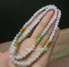 3 color Lavender Green 100% Natural A JADE JADEITE Bead Beads Necklace  0288