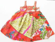 Träger Kleid Gr.92 Needs NEU 100% Baumwolle orange grün tunika sommer kinder