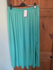 Mermaid Green Turquoise Long Maxi Skirt Brand New George Size 16