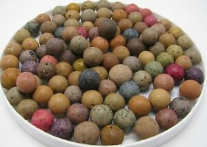 Another 100 Antique Clay or Stone Marbles, Multi Colors, No Reserve!