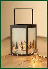 Bezaubernde Winterwald Metall Laterne Cubus Designer Laternen Winter Geschenk