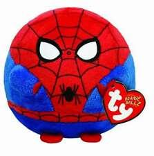 "SPIDERMAN MARVEL COMICS TY BEANIE BABIES BALLZ 5"" BALL PLUSH SOFT TOY BNWT"