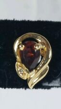 14kt gold Garnet Earring Pair fine jewelry pre owned ring