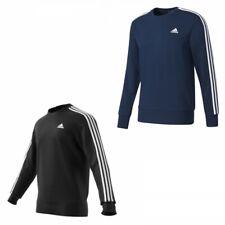 Pullover Sweatshirt Herren Männer schwarz blau adidas ESS 3 Streifen Rundhals