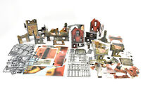 MORDHEIM Scenery Terrain Lot houses Building cardboard OOP box set medieval