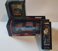 1991- 1992 Racing ChampionsNascar Cars (2). (1) Richard Petty Figure. Pre-owned.