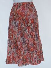 Christopher Banks Petite Broomstick Pleated Skirt Lined Multi-Color PL NWT