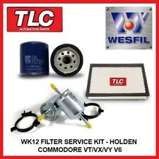 WK12 Air Oil Fuel Filter Kit Commodore VT VX VY WH WK V6 3.8L Ecotec inc s/c