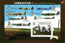 WWII RAF SPITFIRE Squadrons 75th Anniversary Aircraft Stamp Sheet 2011 Gibraltar