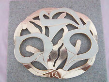 Trivet Calla Lily Enamel White & Yellow Gold Color For Counter or Display Hanger