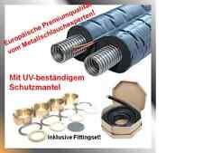 Solarleitung, Solarrohr, Doppelrohr, Edelstahlwellrohr DN16,20,25 Isolierung14mm