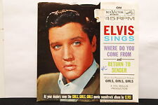 ELVIS PRESLEY Return To Sender/Where Do You Come From 45rpm Picture Sleeve 7""