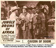 Jungle Drums of Africa - Cliffhanger Serial DVD  Clayton Moore Phyllis Coates