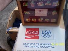Coca Cola 12 SANTA PIN 50 YR Framed Box Set NIB LTD