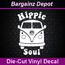 Vinyl Decal.. HIPPIE SOUL.. Cool Peace Sign VW Magic Bus Van Car Laptop Sticker