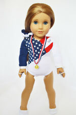 "Doll Clothes For AG 18"" Gymnastic USA 5-Piece Fits American Girl 18 Inch Dolls"