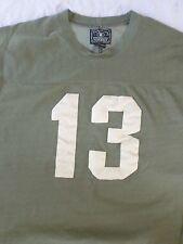 LUCKY BRAND tan brown retro vintage football jersey t-shirt XL