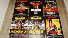 stallone RAMBO 1.2.3.  ! 6 affiches cinema