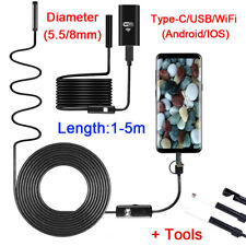 USB Type-C Wifi Endoscope Borescope Snake Inspect Camera for iPhone Android IOS