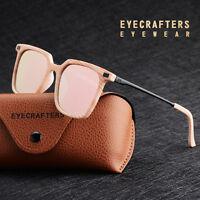 Retro Polarized Sunglasses Womens Driving Fashion Square Mirrored Eyewear Shades