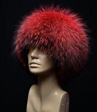 Royal Saga Furs Coral Finn Raccoon Full Fur Cossack Style Women's Hat
