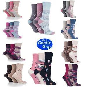 Ladies Womens Orignal Gentle Grip Honeycomb Top Socks Can Use For Diabetic 4-8