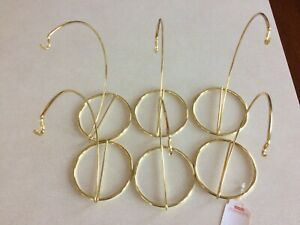 Ornament Hangers Lot of 6 Gold NIB