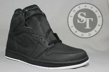 NIKE AIR JORDAN 1 ONE RETRO HIGH OG 555088-002 PERFORATED BLACK DS SIZE: 12
