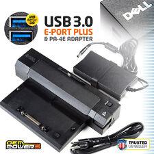 DELL USB 3.0 E-Port Plus Docking Station + Adapter E6440 E6500 E6510 E6520 E6540