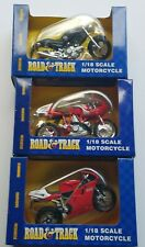 Lot of 3 Road & Track Motorcycle 1:18 Scale New In Box 2 RED & 1 BLACK DUCATI