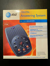 AT&T Digital Answering Machine System with 3 Mailboxes. Model 1726