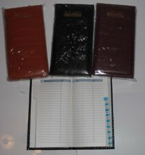 Slim Executive A-Z Index Padded Faux Leather Address Book Diary