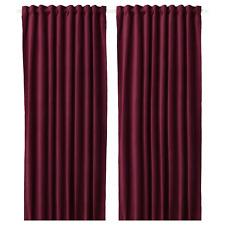 """NEW IKEA SANELA Room darkening curtains, 1 pair, dark red, 55x118 """""""