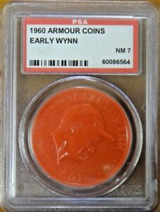 1960 Armour Coin Early Wynn Red PSA 7 NM