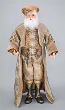 Katherine's Collection Claus Santa personaje oro terciopelo bordado 91cm nuevo