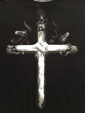 Ecko Unltd Cannabis Joint Cross Black TShirt Sz. M