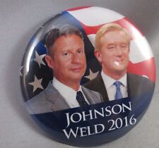 WHOLESALE LOT OF 22 LIBERTARIAN PARTY JOHNSON WELD PRESIDENT 2016  BUTTONS pins