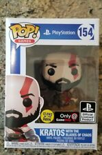 Funko Pop! PlayStation: Kratos 154 w Blades of Chaos GITD GameStop Exclusive