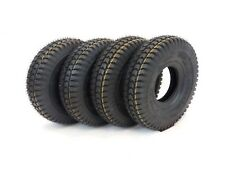 Set of (4) 3.00-4 (260x85) Black Block Tread Mobility Scooter Tyres (Good Care)