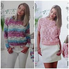 Knitting Pattern facile da Donna Lavorato A Maglia Corto & Maglione a Maniche Lunghe OPPIO 4825 kingcole