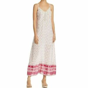 En Creme Women's Maxi Dress Crochet-Inset Paisley Print Sleeveless Ruffle