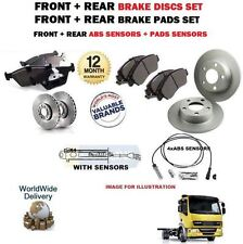DAF LF 45 7.5 TON 2001-> FRONT + REAR BRAKE DISCS SET & PADS KIT & ABS & SENSORS