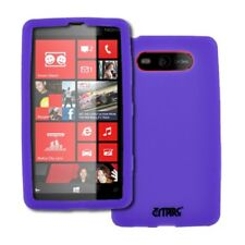 For Nokia Lumia 820 Purple Flexible Silicone Soft Skin Gel Case Cover Protector