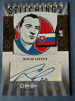 2010-11 OPC Premier Autographed Premier Stitchings APS-MG Marian GABORIK 10/25 !
