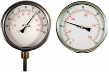 B18-00031 - Cewal® 100mm HVAC Temperature Gauge - Connection Bottom x St