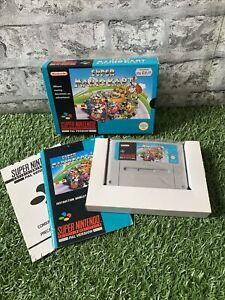 SNES Super Mario Kart PAL CIB VGC Collectors Condition (half sealed)
