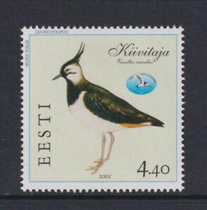 Estonia - 2001, 4f40 Northern Lapwing, Bird stamp - m/m - SG 391