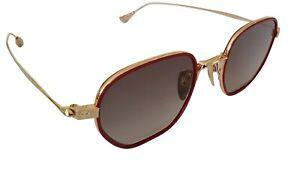 Chrome Hearts Bone Prone I Sunglasses Red & Gold Frame Grey Gradient Lens