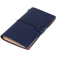 Portable Classic PU Leather Travel Notebook Refillable Notepad (Dark Blue) NEW